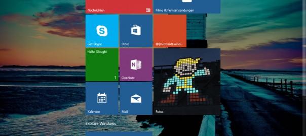 So sieht der neue Desktop von Windows 10 aus.