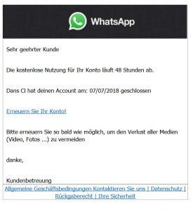 Phisching WhatsApp